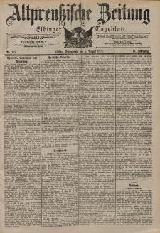 Altpreussische Zeitung, Nr. 182 Sonnabend 5 August 1899, 51. Jahrgang
