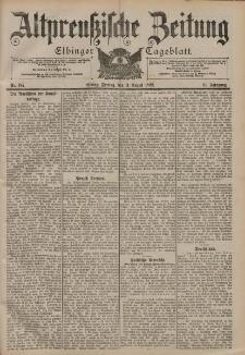 Altpreussische Zeitung, Nr. 187 Freitag 11 August 1899, 51. Jahrgang