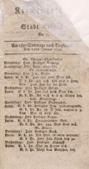 Kirchenzettel der Stadt Elbing, Nr. 3, 13 Januar 1799