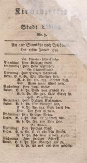 Kirchenzettel der Stadt Elbing, Nr. 5, 27 Januar 1799