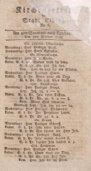 Kirchenzettel der Stadt Elbing, Nr. 6, 3 Februar 1799
