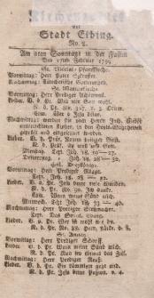 Kirchenzettel der Stadt Elbing, Nr. 8, 17 Februar 1799