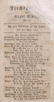 Kirchenzettel der Stadt Elbing, Nr. 10, 3 März 1799