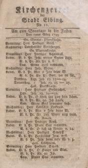Kirchenzettel der Stadt Elbing, Nr. 11, 10 März 1799