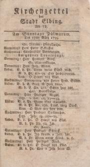 Kirchenzettel der Stadt Elbing, Nr. 12, 17 März 1799