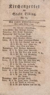Kirchenzettel der Stadt Elbing, Nr. 14, 24 März 1799