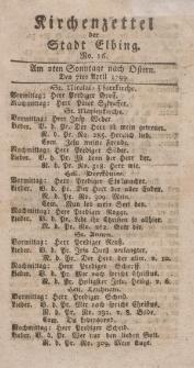 Kirchenzettel der Stadt Elbing, Nr. 16, 7 April 1799