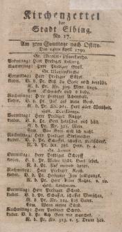 Kirchenzettel der Stadt Elbing, Nr. 17, 14 April 1799