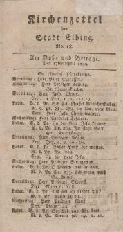 Kirchenzettel der Stadt Elbing, Nr. 18, 17 April 1799