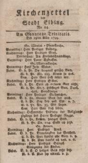Kirchenzettel der Stadt Elbing, Nr. 24, 19 Mai 1799