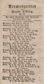 Kirchenzettel der Stadt Elbing, Nr. 25, 26 Mai 1799