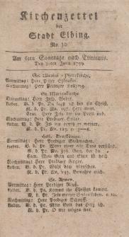 Kirchenzettel der Stadt Elbing, Nr. 30, 30 Juni 1799