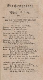 Kirchenzettel der Stadt Elbing, Nr. 31, 7 Juli 1799