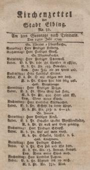 Kirchenzettel der Stadt Elbing, Nr. 32, 14 Juli 1799