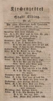 Kirchenzettel der Stadt Elbing, Nr. 42, 22 September 1799