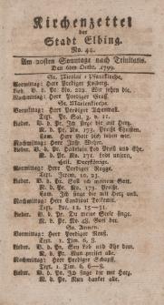 Kirchenzettel der Stadt Elbing, Nr. 44, 6 Oktober 1799
