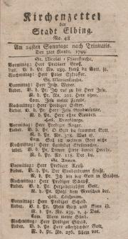 Kirchenzettel der Stadt Elbing, Nr. 48, 3 November 1799