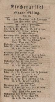 Kirchenzettel der Stadt Elbing, Nr. 50, 17 November 1799