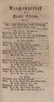 Kirchenzettel der Stadt Elbing, Nr. 51, 24 November 1799