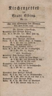 Kirchenzettel der Stadt Elbing, Nr. 53, 8 Dezember 1799