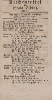 Kirchenzettel der Stadt Elbing, Nr. 56, 25 Dezember 1799