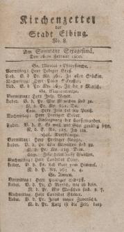 Kirchenzettel der Stadt Elbing, Nr. 8, 16 Februar 1800
