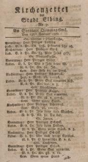Kirchenzettel der Stadt Elbing, Nr. 9, 23 Februar 1800