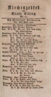 Kirchenzettel der Stadt Elbing, Nr. 15, 6 April 1800