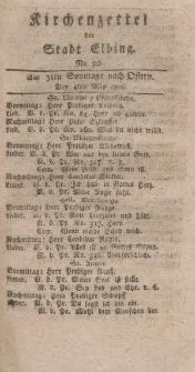 Kirchenzettel der Stadt Elbing, Nr. 20, 4 Mai 1800