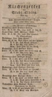 Kirchenzettel der Stadt Elbing, Nr. 24, 22 Mai 1800