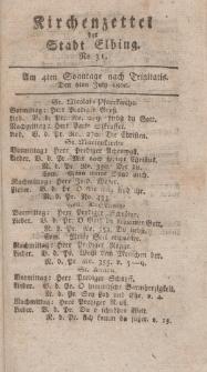 Kirchenzettel der Stadt Elbing, Nr. 31, 4 Juli 1800