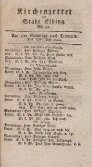Kirchenzettel der Stadt Elbing, Nr. 32, 13 Juli 1800