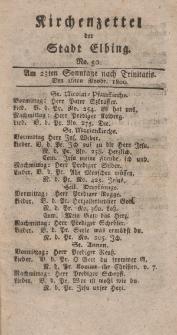 Kirchenzettel der Stadt Elbing, Nr. 50, 16 November 1800