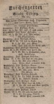 Kirchenzettel der Stadt Elbing, Nr. 51, 23 November 1800