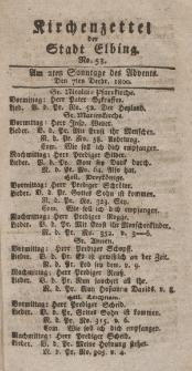 Kirchenzettel der Stadt Elbing, Nr. 53, 7 Dezember 1800