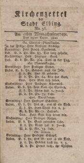 Kirchenzettel der Stadt Elbing, Nr. 56, 25 Dezember 1800