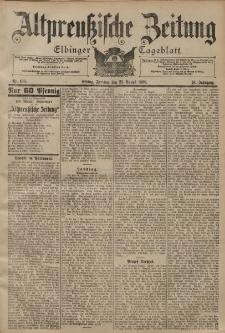 Altpreussische Zeitung, Nr. 199 Freitag 25 August 1899, 51. Jahrgang