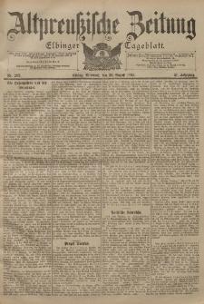 Altpreussische Zeitung, Nr. 203 Mittwoch 30 August 1899, 51. Jahrgang