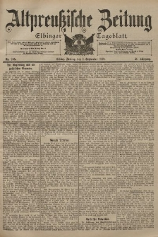 Altpreussische Zeitung, Nr. 205 Freitag 1 September 1899, 51. Jahrgang