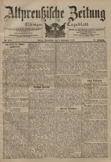 Altpreussische Zeitung, Nr. 206 Sonnabend 2 September 1899, 51. Jahrgang
