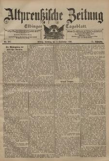 Altpreussische Zeitung, Nr. 207 Sonntag 3 September 1899, 51. Jahrgang