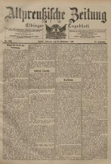 Altpreussische Zeitung, Nr. 213 Sonntag 10 September 1899, 51. Jahrgang