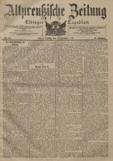 Altpreussische Zeitung, Nr. 214 Dienstag 12 September 1899, 51. Jahrgang