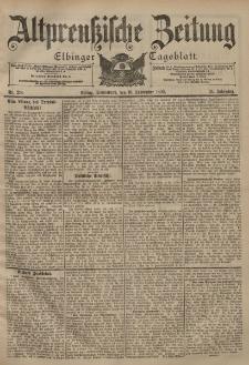 Altpreussische Zeitung, Nr. 218 Sonnabend 16 September 1899, 51. Jahrgang