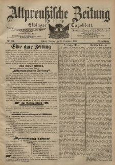 Altpreussische Zeitung, Nr. 220 Dienstag 19 September 1899, 51. Jahrgang