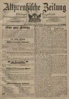 Altpreussische Zeitung, Nr. 221 Mittwoch 20 September 1899, 51. Jahrgang