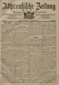 Altpreussische Zeitung, Nr. 222 Donnerstag 21 September 1899, 51. Jahrgang