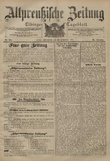 Altpreussische Zeitung, Nr. 224 Sonnabend 23 September 1899, 51. Jahrgang