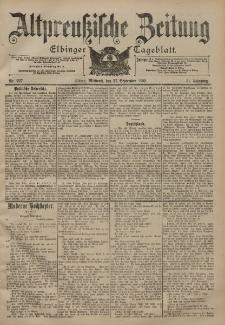 Altpreussische Zeitung, Nr. 227 Mittwoch 27 September 1899, 51. Jahrgang