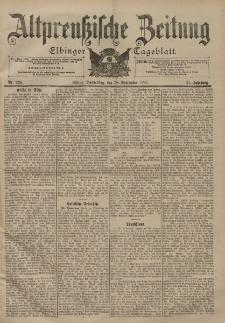 Altpreussische Zeitung, Nr. 228 Donnerstag 28 September 1899, 51. Jahrgang